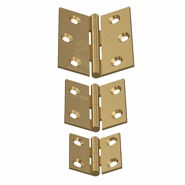 BRASS FLAT HINGES SATIN GOLD